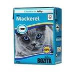 Nassfutter Katze–Bozita Chunks in Jelly mit Makrele 370g–Bulk 16Stück