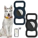TOGOTTAT Silikon Schutzhülle für Airtags GPS Finder Hundehalsband kompatibel mit Apple Airtags für Problem des Verlusts von Hunde, Katze und Kinder