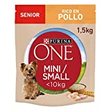 PURINA ONE Mini Hundefutter Senior Huhn und Reis, 8 x 800 g