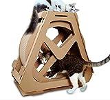 CHELIZI Ferris Wheel Cat Grab Board Wellpappe Katze Katze Nest kreativ mit Katzengreifer Board