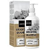 Animigo Shampoo für Hunde & Katzen - 500ml Hundeshampoo Sensitiv - Bei Juckreiz, trockener Haut & Geruch - Fellpflege für Kurz- und Langhaar - Mit Lavendelöl - Auch für Welpen & Kätzchen geeignet