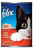 Felix Nasses Fleisch Katzenfutter 3 Arten - 12 Dosen x 400 Gramm