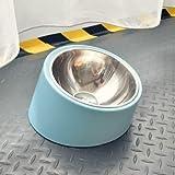 LANHUAN Trinkschalen for Hunde Katzen Pet Food Bowl (Color : Blue, Size : 13x7cm)