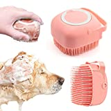 Cyleibe Haustier-Bürste, Hundebürste, Katzenbürste, Fellpflegebürste für Hunde, Spa für Welpen, Katzen, Dusche (Pink)
