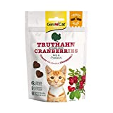 GimCat Crunchy Snacks - Knuspriges und proteinreiches Katzenleckerli ohne Zuckerzusatz - 1 Beutel (1 x 50 g)