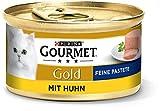 PURINA GOURMET Gold Feine Pastete Katzenfutter nass, mit Huhn, 12er Pack (12 x 85g)