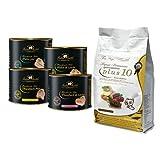 Getreidefreies Katzenfutter Angebot. 3 kg Getreidefreies Katzen Trockenfutter Plus 10 und Nassfutter 12 x 140g Handmade Filet vom Deutschen Metzger