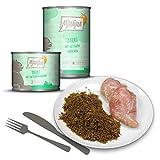 MjAMjAM Premium Nassfutter für Katzen - Quetschie - Insekt - mit saftigem Hühnchen, nachhaltig und getreidefrei, mit Insektenprotein, 6 x 200 g