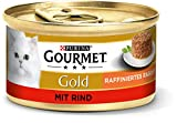 PURINA GOURMET Gold Raffiniertes Ragout Katzenfutter nass, mit Rind, 12er Pack (12 x 85g)