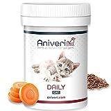 Aniveri Daily Cat für Katze/Katzen - Vitamine und Mineralstoffe/Vitamin B Komplex, 50g Pulver, Komplex hochdosiert, Nahrungsergänzungsmittel für Futter, Nassfutter, Katzenfutter und Barf Katze