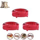 Egosy 3 Stück Halskette Insektenschutzmittel Katzen Halskette Anti-Floh und Anti-Zecken, Dimpylat für Katze Halskette Insektizid Katze Halskette einstellbar für Katzenzecken