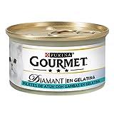 Purina Gourmet Diamant Gelatine Leckerlis Katzenfutter mit Thunfisch, 24 x 85 g