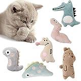 AUXSOUL 6 Stück Katzenminze Plüsch Spielzeug, Katzenspielzeug mit Katzenminze Niedlich Plüsch Katzenspielzeug Katzenplüsch Kauspielzeug für Katzen Kitten