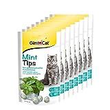 GimCat Mint Tips - Getreidefreier und vitaminreicher Katzensnack mit geschmackvoller Katzenminze - 8er Pack (8 x 40 g)