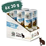 Wildes Land - Freeze Dried Snack für Katzen - Huhn - 6 x 30 g - artgerecht - 100% Huhn - schonende Gefriertrocknung - getreidefrei
