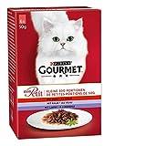 PURINA GOURMET Mon Petit Katzenfutter nass, Sorten-Mix, 8er Pack (8 x 6 Beutel à 50g)