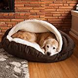 ZINN Luxus Hundehöhle Orthopädisches Höhlenbett,Kuschelige,mit reißverschluss,Kaschmir,Höhle für mittlere und große Hunde,Kuschelhöhle Haus,waschbar-M:89x89x10cm