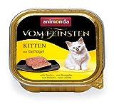 animonda Vom Feinsten Kitten, Nassfutter für wachsende Katzen im ersten Lebensjahr, mit Geflügel, 32 x 100 g
