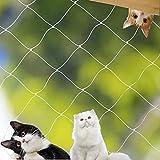 Parain Katzennetz für Balkon Fenster Drahtverstärkt Katzenschutznetz Robustes Schutznetz, Weiß, 8 * 3m