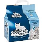 Catsan Set mit 3 Katzentoiletten, 10 l, hygienisch, für Haustiere, Mehrfarbig, einzigartig