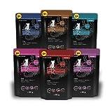 catz finefood Purrrr Collection I - Monoprotein Katzenfutter nass - getreidefrei, zuckerfrei, hypoallergen - hoher Fleischanteil - Multipack Nassfutter für Katzen - im Beutel, 12 x 85g