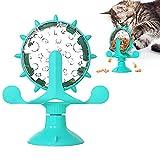 JINGYOUDAMAI Windmühle Katzenspielzeug,Katzenwindmühlenspielzeug,Cat Windmill Toy,Katzen-Windmühle,Interaktives Necken Katzenspielzeug,Spielzeug für Katzen