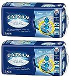 CATSAN Smart Pack – Nichtklumpende Katzenstreu auf saugfähigem Vlies – 2 Packungen mit 4 Packs 16L (4x 4L)