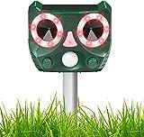 Cat Repellent Katzenschreck Ultraschall Solar Tiervertreiber mit LED Blitz Tierschreck Wasserdicht für Garten, 5 Modus