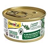 GimCat Superfood ShinyCat Duo Filet mit Obst oder Gemüse - Katzenfutter mit saftigem Filet ohne Zuckerzusatz für ausgewachsene Katzen (24 x 70g)