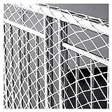 ASPZQ Kindersicherheitsnetz Treppe Balkongeländer Spielplatzschutznetz Katzennetz Baumhaus-Schaukel-Zaunnetz Pflanzen Klettern Anhänger-Frachtnetz Color : 5cm mesh, Size : 1x1m(3x3ft)