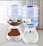 Old Tjikko Automatischer Futter und Wasserspender für Katzen und Hunde,Futterautomat Katze,Automatischer Futterspender & Wassertränker im Set für Kleintiere,Hund Schüssel,jeweils 3.8L PBA frei