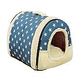 JZK Weich warm Hundehöhle Katzenhöhle, tragbar Faltbare Katzenhaus, Mini Hundebetten, Haustier Nest für Katze, Kätzchen, Hündchen nd Kaninchen