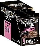 Crave Hundesnacks Protein Chunks mit 100% natürlichem Lachs, 6 Packungen (6 x 55 g)