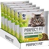 PERFECT FIT Natural Vitality - Katzenfutter Trockenfutter Adult 1+ - Huhn und Truthahn, 6 x 650g