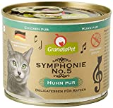 GranataPet Symphonie No. 5 Huhn PUR, Katzenfutter ohne Getreide & Zuckerzusätze, Filet in natürlichem Gelee, delikates Nassfutter für Katzen, 6 x 200 g