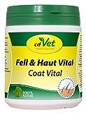 cdVet Naturprodukte Fell & Haut Vital Hund & Katze 400 g - Hund, Katze - Ergänzungsfuttermittel - Fell + Hautprobleme - Fellwechsel - Organismusunterstützung - Haarbruch - Schuppen - Haarverlust -