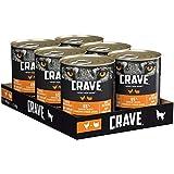 CRAVE Premium Pastete mit Huhn & Truthahn für Hunde – Getreidefreies Adult Nassfutter mit hohem Proteingehalt – Dosen 6 x 400 g