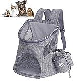 GZGZADMC Faltbar Weich Haustier Rucksack Rückenspritze Haustier Gepäckträger für Kartze Hunde mit einstellbar Polsterstuhl Schulter Gewebe Top-Openning Öffnung-S