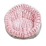 Katzenkörbchen Hundebett Rundes Donut Haustierbett Weiche Und Bequeme Flauschige Welpen Kissen Matte Zum Warmen Schlafen Waschbar red b,Medium