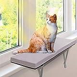 MASTERTOP Katzen Fensterplatz -Window Katzen Hängematte Für Große Katze in Innenräume -60 x 30 x 5 cm-Sonnenbad Katzenbett für Haustier Katze