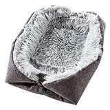 Yingku Katzenbett Waschbar Flauschiges Katzenkissen - 2 in 1 Katzen Schlafplatz Katzensofa Katzendecke Weich für Katze Kleine Hunde, Größe 61x51cm