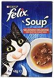 Purina Feix Suppe Katzenauswahl Lecker mit Rind, mit Huhn, mit Lamm - 48 Beutel à 48 g (8 Packungen à 6 x 48 g)