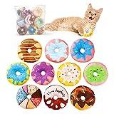 Toozey Katzenspielzeug Donuts mit Katzenminze, Katzenminze Donuts 10pcs FüR Katze Zum BeißEn, Spielen, Kauen Und Treten