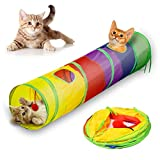 Katzentunnel, Haustier-Tunnel, zusammenklappbares Spielzeug für drinnen und draußen, Verstecken, Laufen, mit lustigem Ball,Cat Play Tunnel, Pet Tunnel,Katzenspielzeug Katze Spielzeug