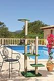 CLEVERCAT Outdoor Kratzbaum St. Tropez. Mit stufenförmig angeordneten Liegeetagen für leichten Aufstieg. Ideal auch für kleine und ältere Tiere. 7416