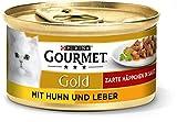 PURINA GOURMET Gold Zarte Häppchen in Sauce Katzenfutter nass, mit Huhn und Leber, 12er Pack (12 x 85g)