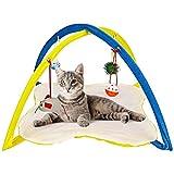 Katzen Intelligenzspielzeug - Katzenspielmatte Mit Hängespielzeug - Katzenspielzeug Maus Und 3 Ball - Katzen Zubehör