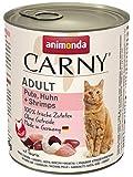 animonda Carny Adult Katzenfutter, Nassfutter für ausgewachsene Katzen, Pute, Huhn + Shrimps, 6 x 800 g