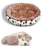 WPCASE Katzenkissen Flauschig Katzenkörbchen Hundebett Kleine Hunde Hundehöhle Katzenbett Weich Warm Waschbar Für Mittelgroße Katzen Brown,Medium