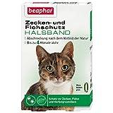 Zecken- & Flohschutz Halsband Katze | Schutz vor Zecken Flöhen | Wirkt 4 Monate | Katzenhalsband mit Sicherheitsverschluss | Farbe: Grün | Länge: 35cm